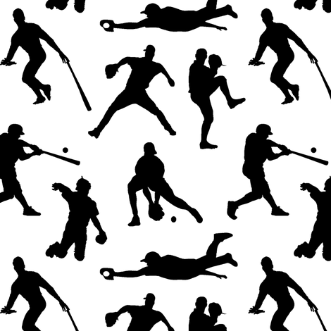 Baseball Players fabric by thinlinetextiles on Spoonflower - custom fabric