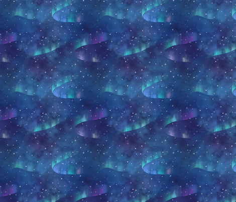 Aurora sky fabric by elena_naylor on Spoonflower - custom fabric