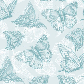 butterflies_teal_pattern