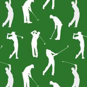 Golfers on the Fairway