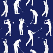 Golfers // Dark Blue