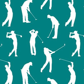 Golfers on Teal // Small