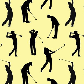 Golfers on Yellow // Small