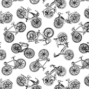 Vintage Bicycle Outlines