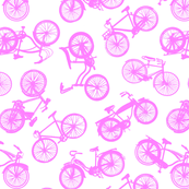 Pink Vintage Bicycles // Scattered