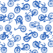 Vintage Bicycles - Dark Blue