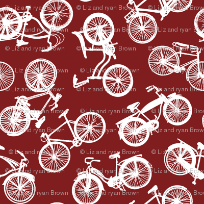 Vintage Bicycles // Dark Red