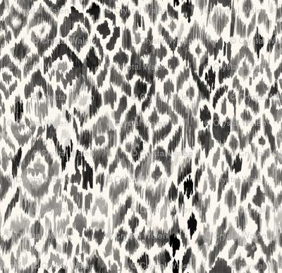 bohemian ikat leopard