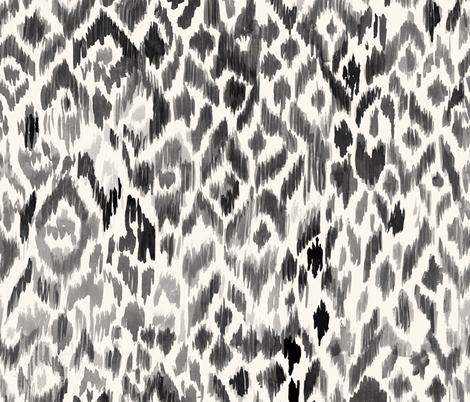 bohemian ikat leopard fabric by crystal_walen on Spoonflower - custom fabric