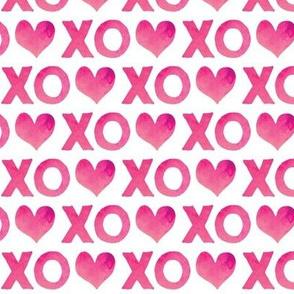 XO♥ watercolor  || pink
