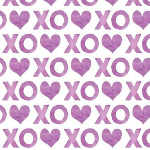 XO♥ || purple watercolor