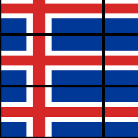 The Icelandic Flag fabric by odinist on Spoonflower - custom fabric