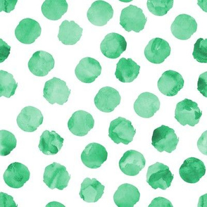 watercolor spots || green