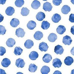 watercolor spots || blue