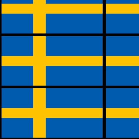 Swedish flag fabric by odinist on Spoonflower - custom fabric