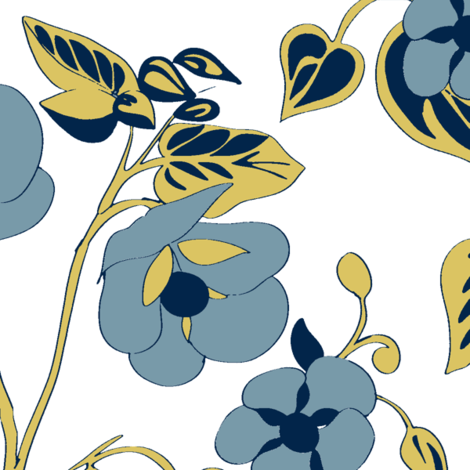 Abultilin_Delft wh fabric by caela_bee_designs on Spoonflower - custom fabric