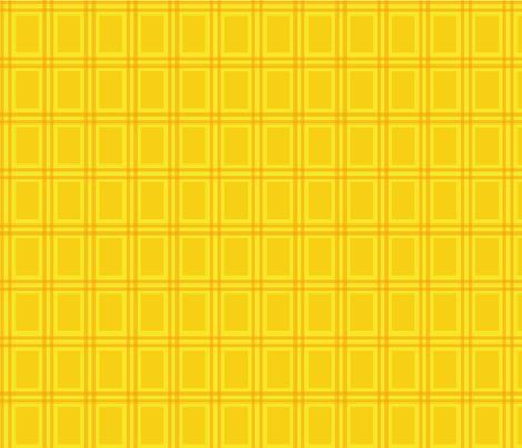 Magical NEET plaid - yellow fabric by luluko on Spoonflower - custom fabric