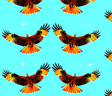 Dancing Eagles fabric by robin_rice on Spoonflower - custom fabric