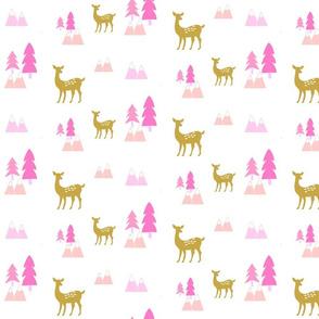 Meadow Deer676 -Pink