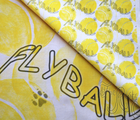 Flyball watercolor tennis balls - small yellow