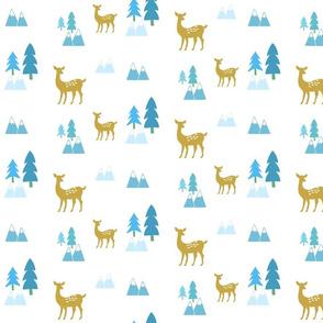 Meadow Deer 676 -blue