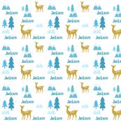 Meadow Deer -blue-personalized JACKSON