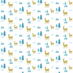 Meadow Deer 45 SMALL -blue