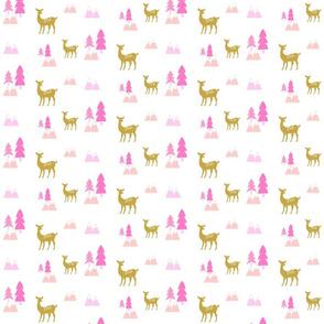 Meadow Deer45 SMALL -Pink