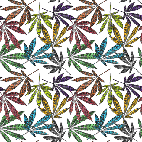 Ganja Tie Dye small fabric by camomoto on Spoonflower - custom fabric