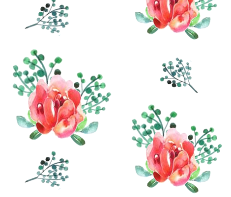 flowers fabric by elliemacdesigns on Spoonflower - custom fabric