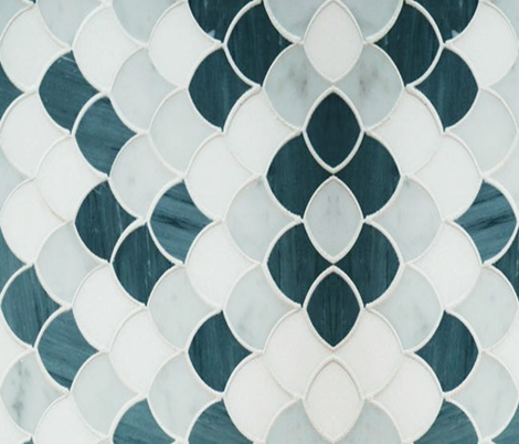 teal_scallops fabric by elliemacdesigns on Spoonflower - custom fabric