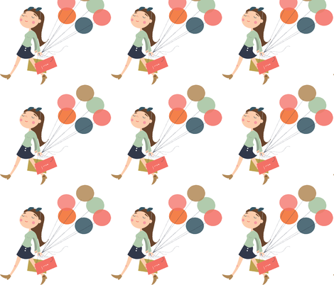 Shopping Girl fabric by bethanyhissong on Spoonflower - custom fabric