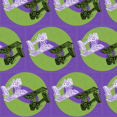 Sewing Machine Zen fabric by esheepdesigns on Spoonflower - custom fabric