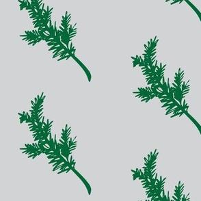 Grey and Green Greenery
