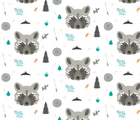Racoon Collage fabric by hudsondesigncompany on Spoonflower - custom fabric