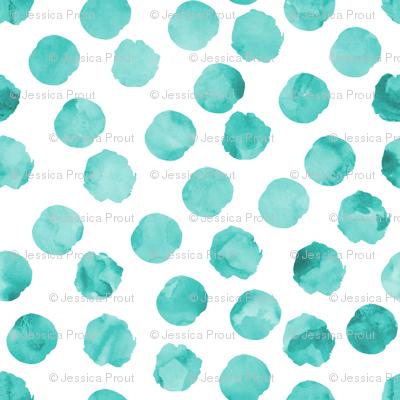 watercolor spots || teal