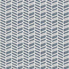 herringbone multi // grey & navy
