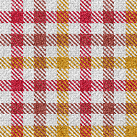 Tricolor Gingham Red Brown Yellow fabric by eclectic_house on Spoonflower - custom fabric