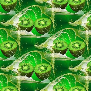 splashing green kiwi