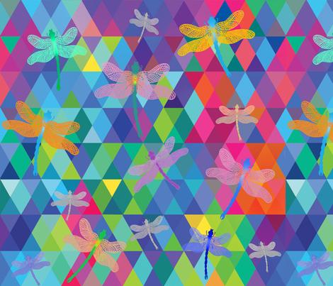 Aurora Borealis Dragonfly Sky fabric by honoluludesign on Spoonflower - custom fabric