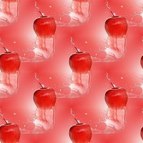 red apple and water