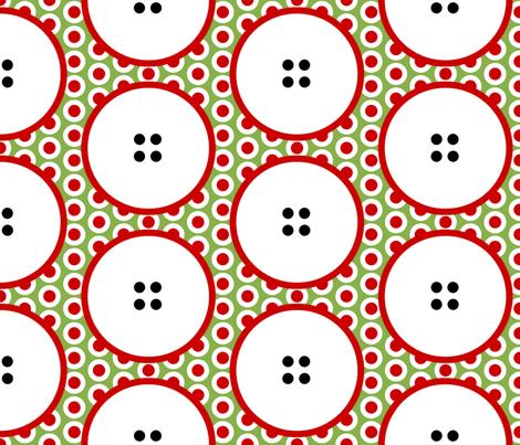 Button-holed!  by Su_G fabric by su_g on Spoonflower - custom fabric
