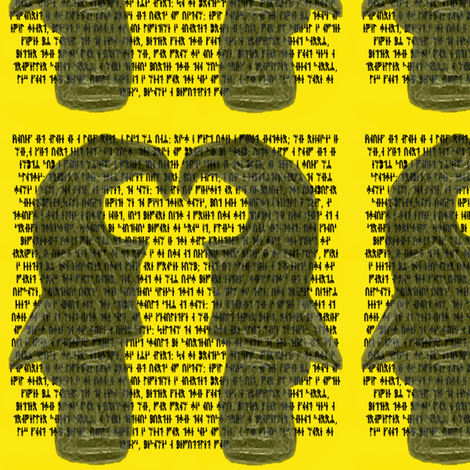 Runes and Ravens in yellow fabric by odinist on Spoonflower - custom fabric
