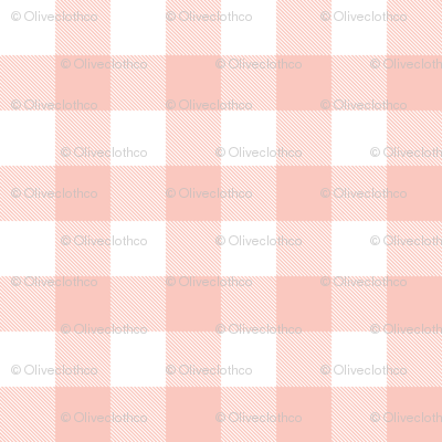 Buffalo Check in Blush Pink and White