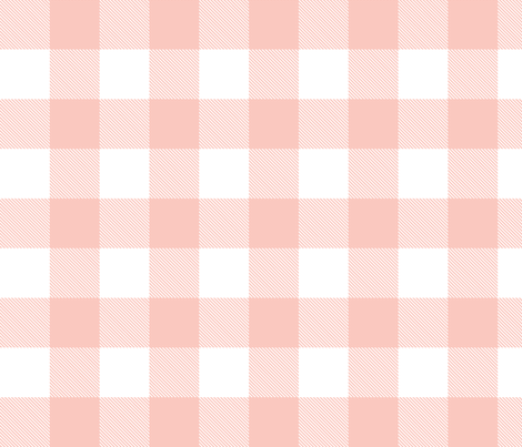 Buffalo Check in Blush Pink and White fabric by hipkiddesigns on Spoonflower - custom fabric