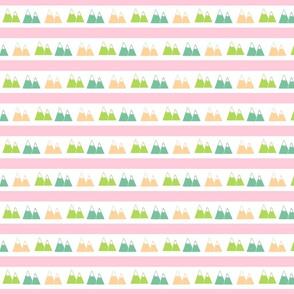 Mountain Stripes - pink