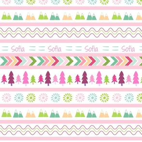 Aztec Fair Isle - pink Personalized SOFIA