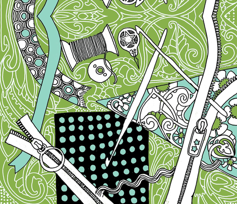 Sew What? fabric by edsel2084 on Spoonflower - custom fabric