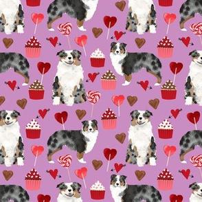 australian shepherd dog valentines fabric cute love dogs fabric