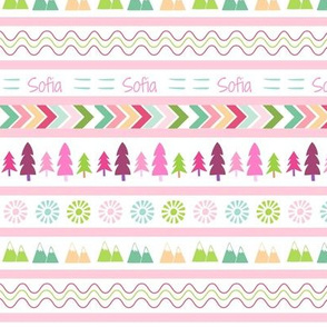 Aztec Fair Isle - SMALL  pink Personalized SOFIA